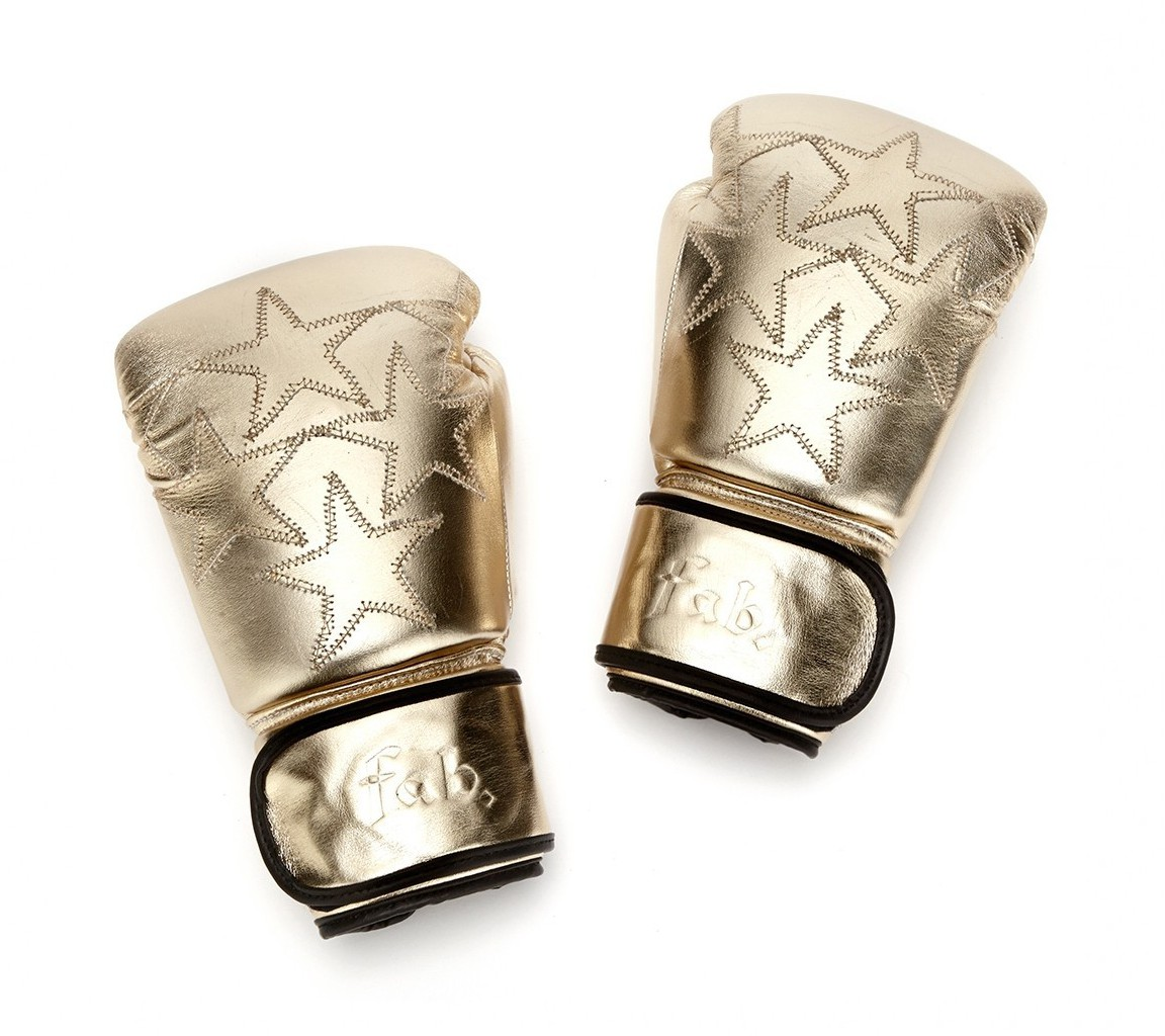 Fab by fabienne gold star boxing gloves